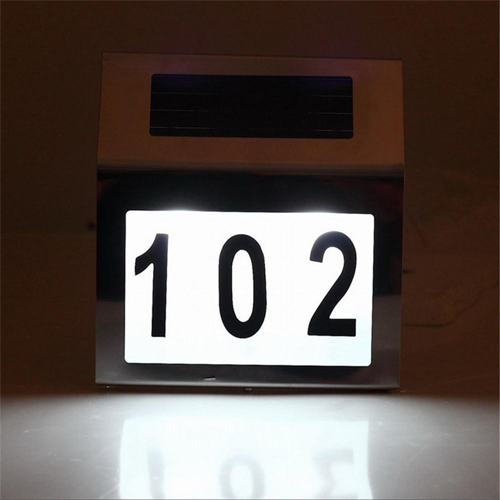 Edelstahl Solarhausnummer LED Beleuchtete Solar