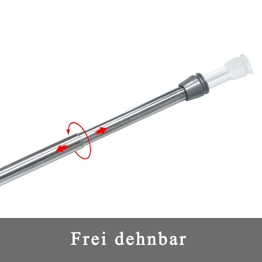 Duschvorhangstange Gardinenstange Stange Spannstange KlemmstangeTeleskop Stabil