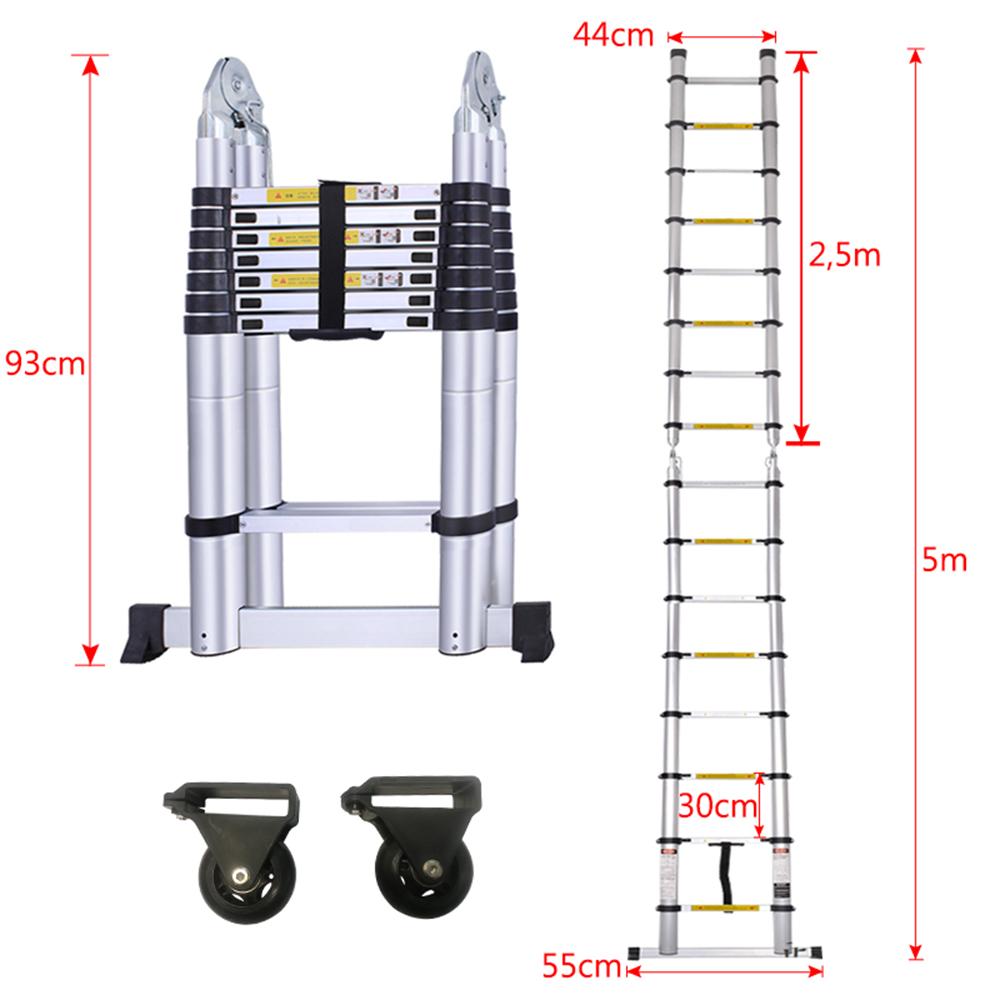 Neu Teleskopleiter Aluleiter Mehrzweckleiter Klappleiter Anlegeleiter Stehleiter