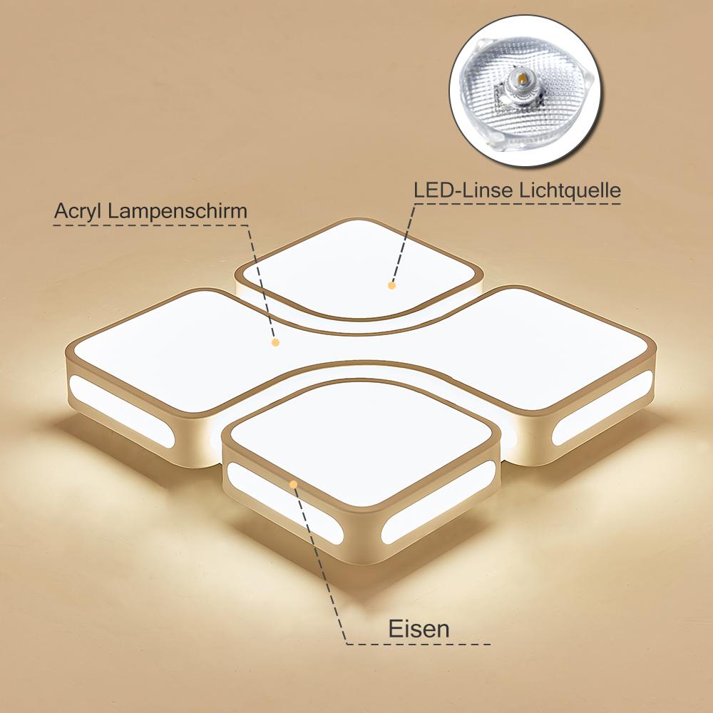 Détails sur 36W Plafonnier LED Lampe de Plafond moderne Lampe Salon cuisine  Design IP44 NEU