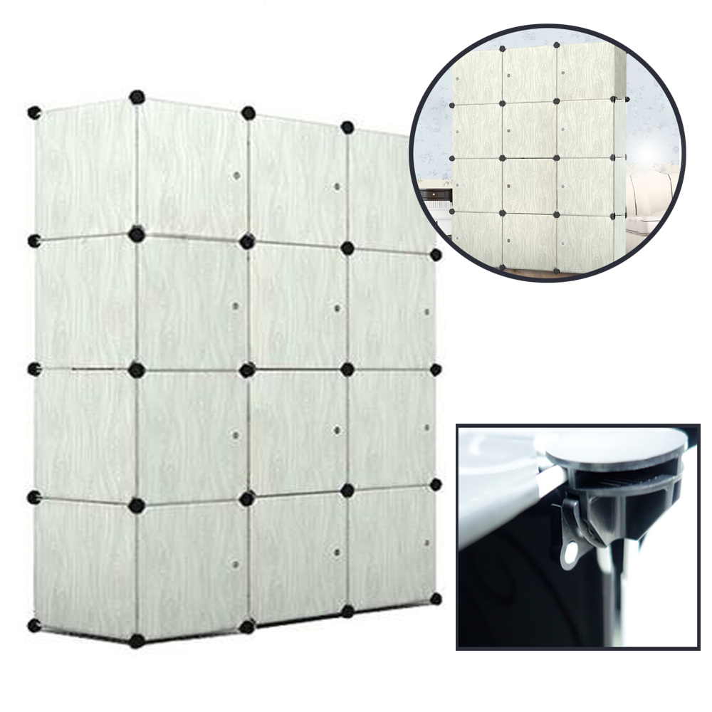 DIY 12er Steckregal Garderobe Schuhregal Kleiderschrank Regalsystem Türen Neu DE