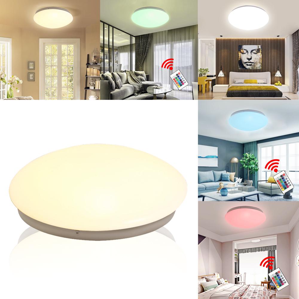15W Weiß LED Deckenlampe Wohnzimmerlampe für Wohnzimmer Schlafzimmer Küche Flur