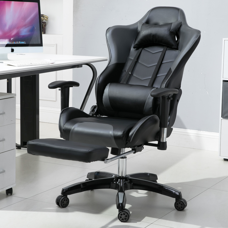 Büro Drehsitz Racing Sportstuhl Chefsessel Gaming-Stuhl Bequemes mit Fußstütze