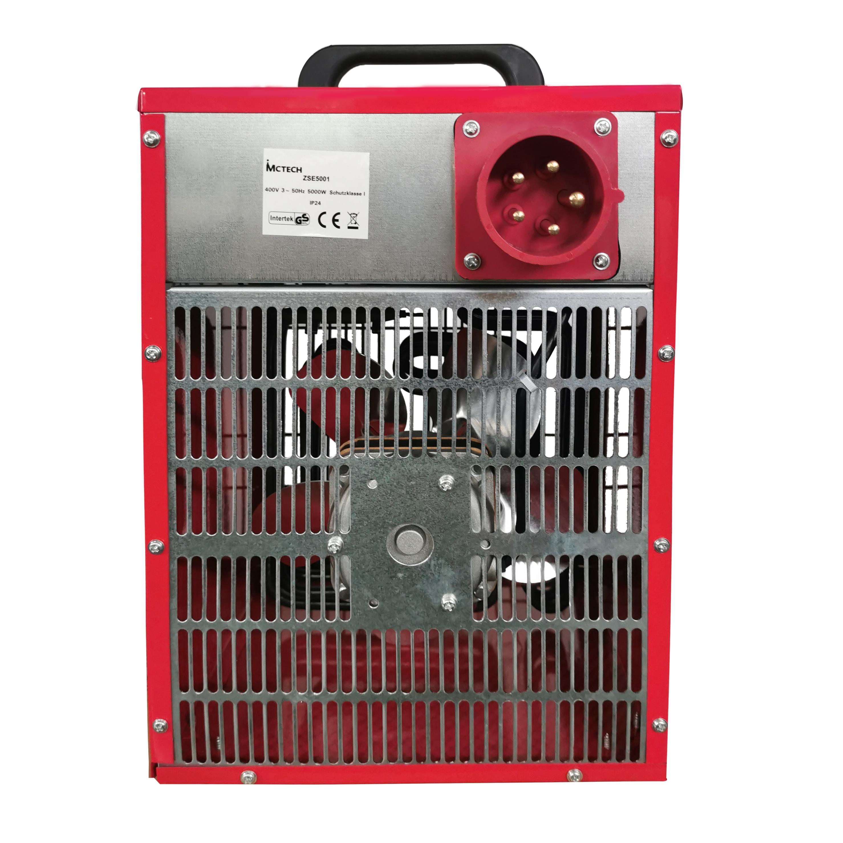 Bauheizer Heizluefter Elektroheizung Elektroheizer Heizgebläse 3kW-9kW Edelstahl
