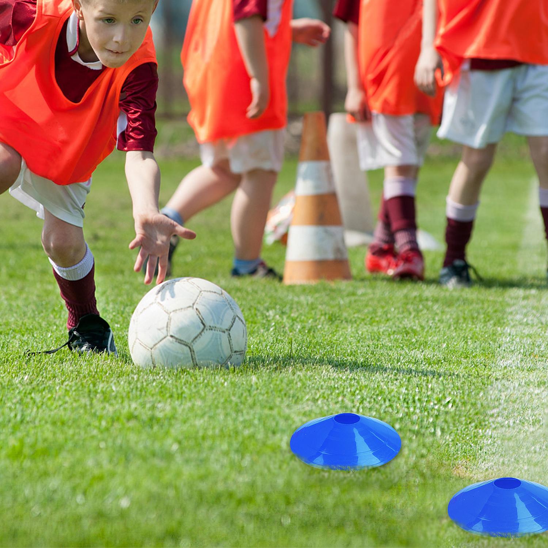 50xMarkierungsteller Markierungshütchen Trainingshütchen Fußballtraining Fußball