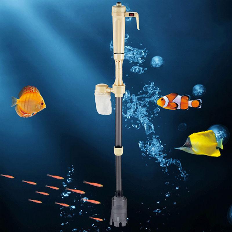 Elektrische Aquarium Reiniger Staubsauger Fish Tank Syphon Wasserwechsel Pumpe