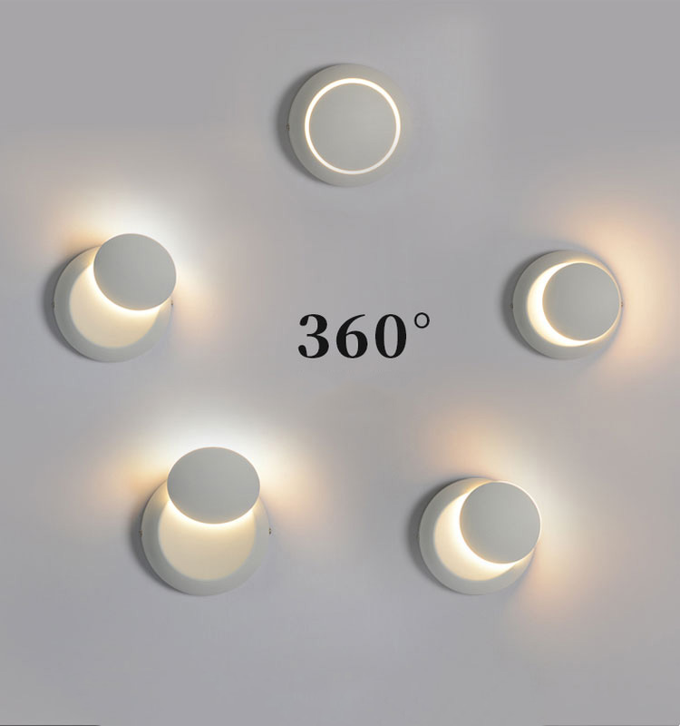 LED Round Moon total lunar eclipse Paint Home Indoor Bedroom Wall Lamp Lighting