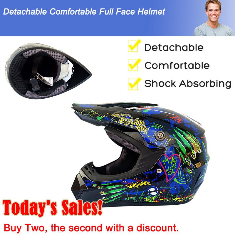 Graffiti Full Face Bicycle Helmet Mountain Bike Motorcycle Skate Sports Helmet