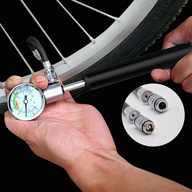 Tragbar Hochdruck MTB Fahrrad Fahrrad Kompakt Federgabel /&Dämpferpumpe Tool Kit
