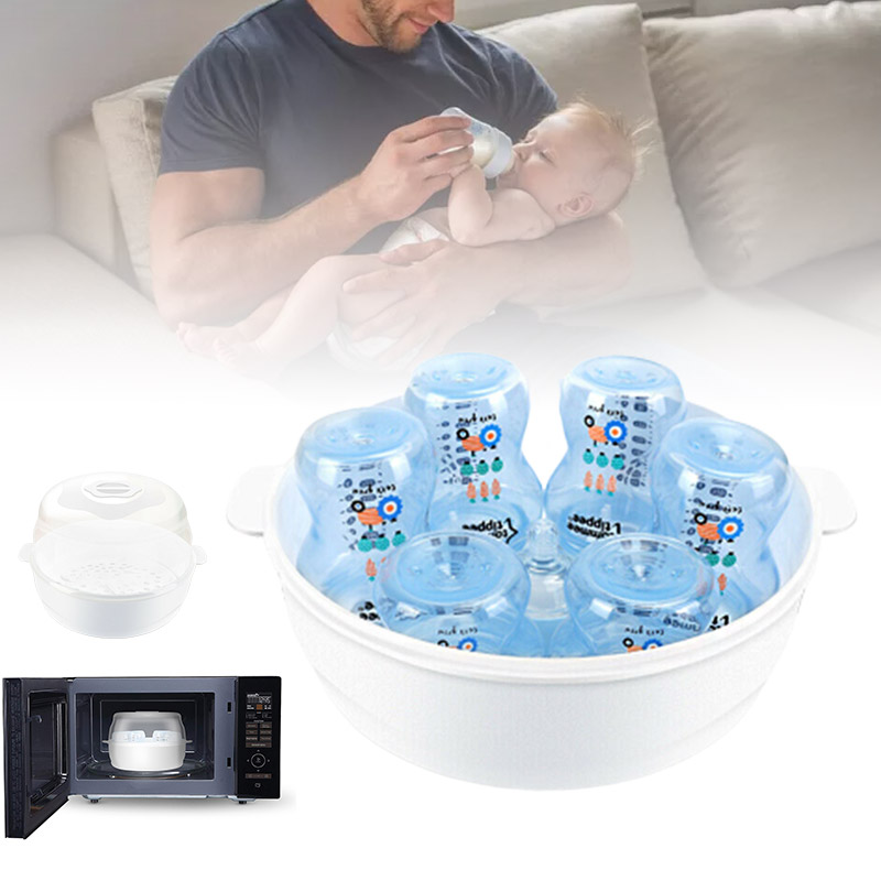 Baby Warmers /& Sterilizers Bottle Microwave Steam Fit 6 Baby Bottles