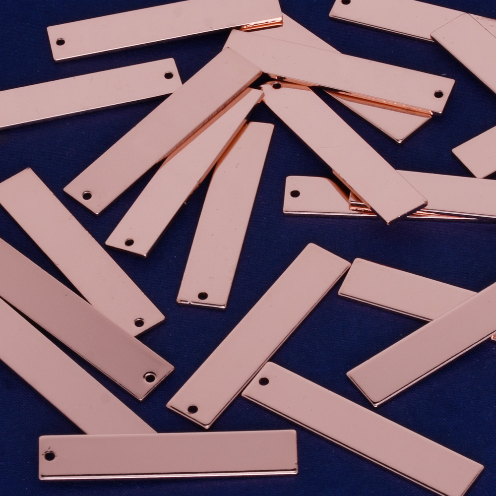 """6/""""*5//8/"""" Rectangle Copper Blank Hand Stamping Blanks 5pcs 18 Gauges 10169250"""