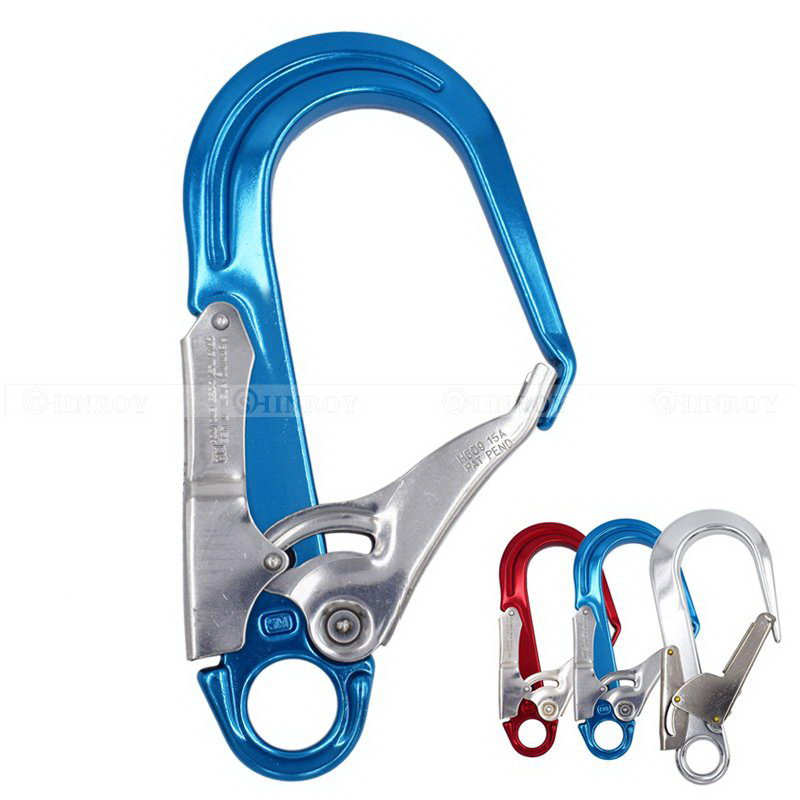 25KN Outdoor Tree Climbing Arborist Fall Arrest Safety Lanyard with Hook
