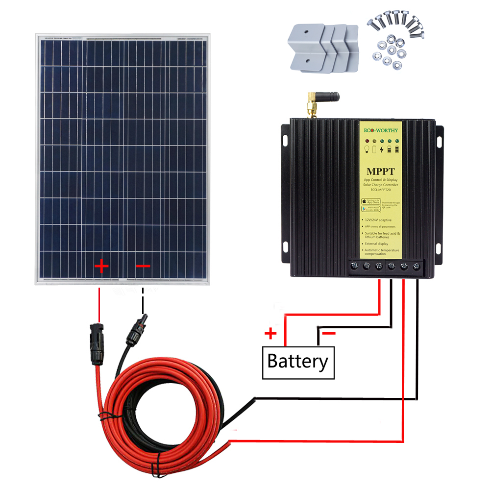 Dachdurchführung Making Things Convenient For Customers 5m Kabel Halter Sika Solar Panel Set 100w Mppt Regler