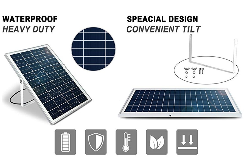 New 10w Pv Solar Panel C W 3m Cable For Charging Top 12v Battery System Ce Uk