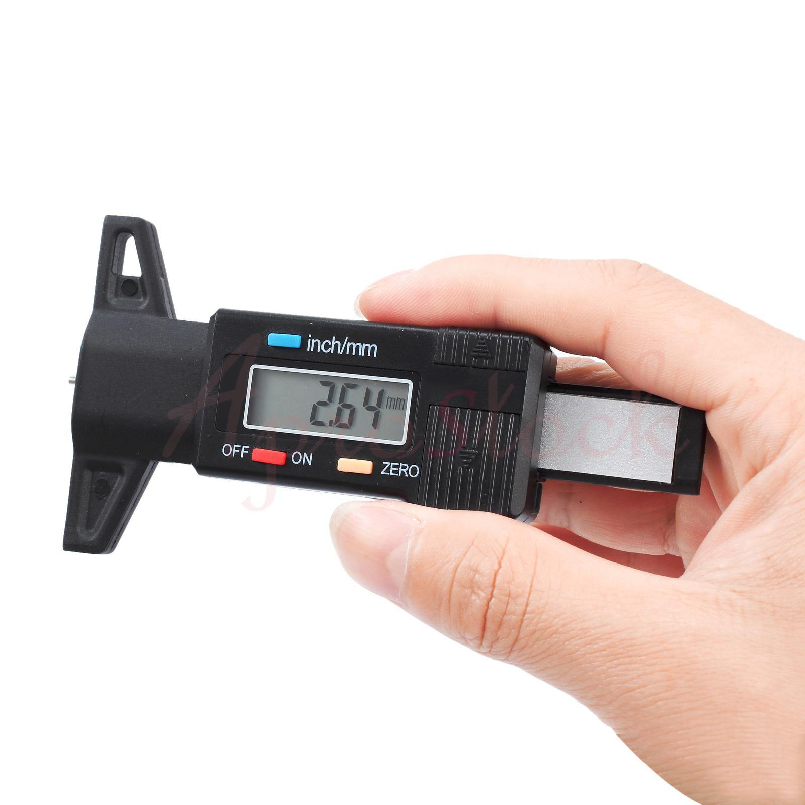 Digital LCD Reifenprofilmesser Tiefenmesser Reifen Messchieber DE