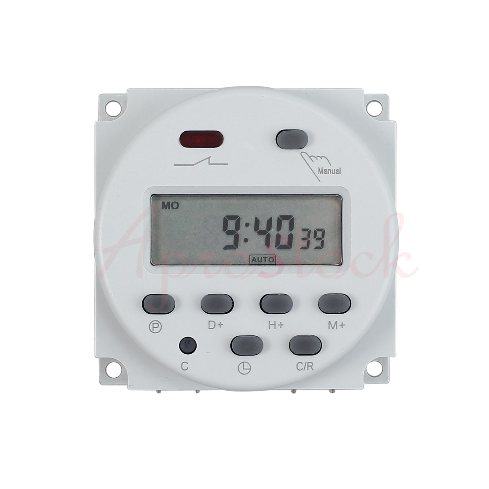 digitale lcd zeitschaltuhr dc ac 12v 16a timer programmierbar schalter zeit gut ebay