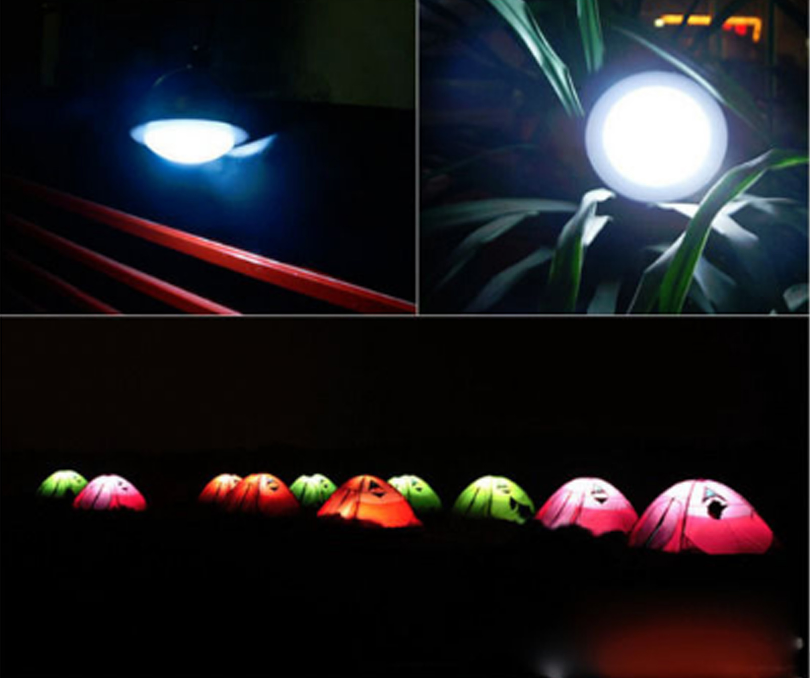 60LED Außen Campinglampe Laterne Zeltlampe Nachtlichter Hängelampe mit USB /&Akku