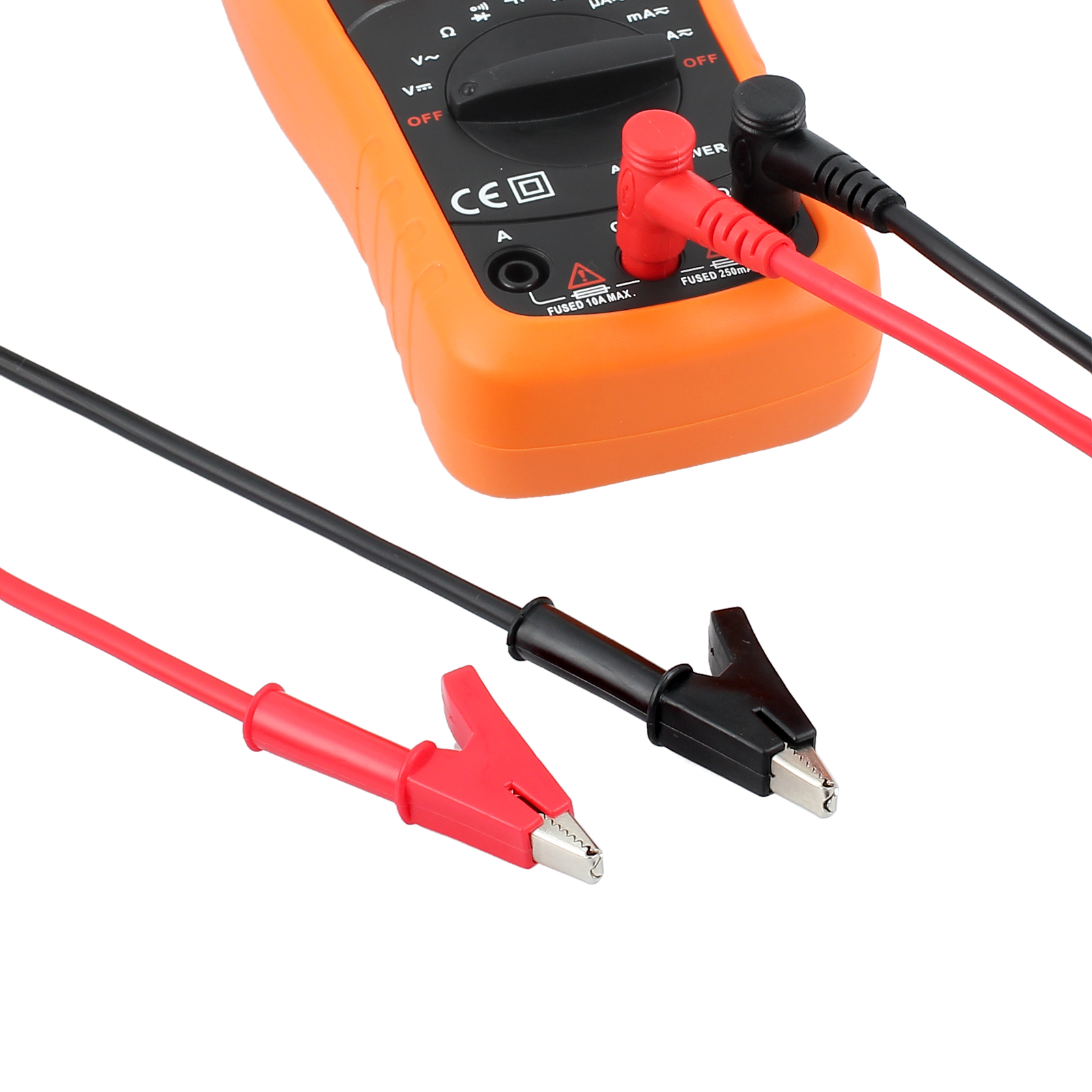 Heavy Duty Banana Plug to Alligator Clip Test Lead Cables Multimeter ...
