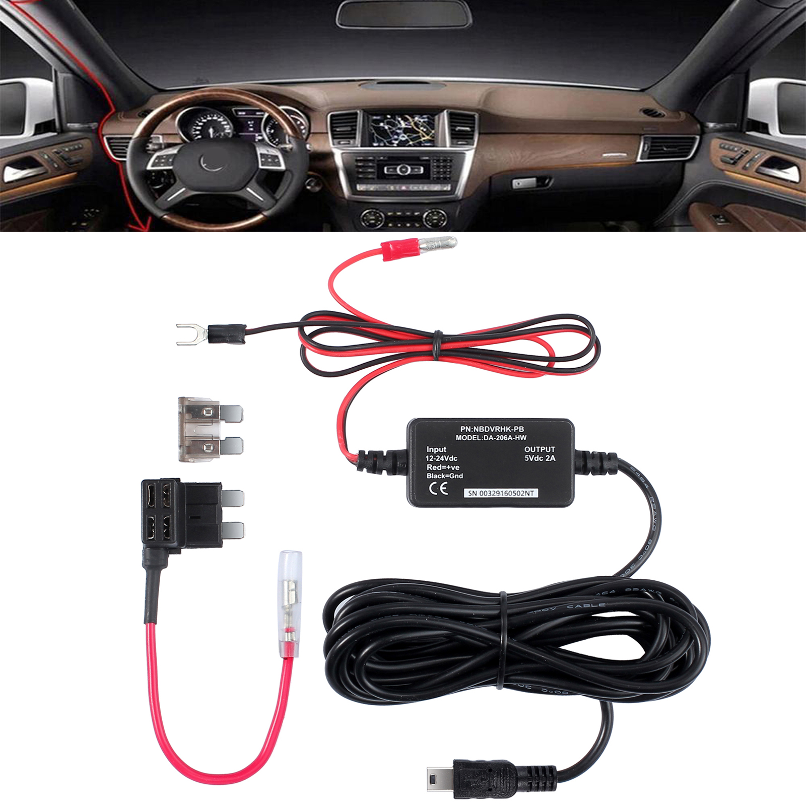 Hard Wire Kit Car Dash Cam Camera For Nextbase 212 312gw 402g 412 Dc Plug Automotive Wiring Harness Cigar Custom Molded Cable Assembly This Nextbase512g 412312gw 302g 202 101 And Duocar No Need From Cigarette Lighter Socket