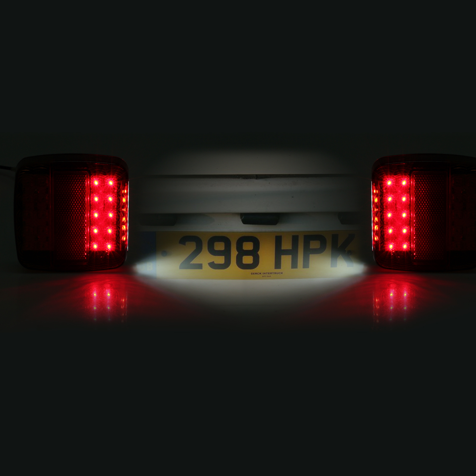 Pair Led Square Tail Light 12v Trailer Truck Number Taillight Stop Lights Wiring Instructions Car