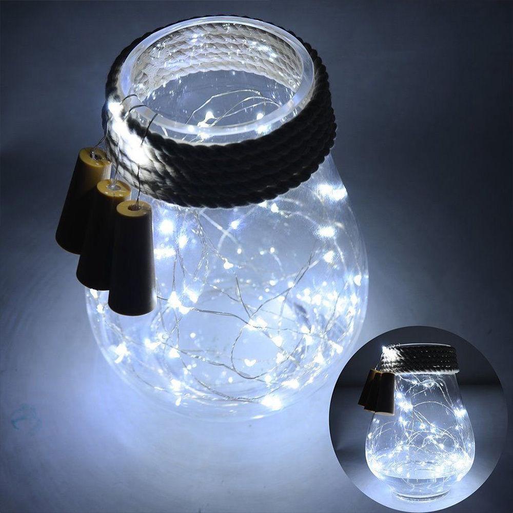 8x korken led lichterkette flaschenlicht weinflasche nachlicht draht beleuchtung ebay. Black Bedroom Furniture Sets. Home Design Ideas