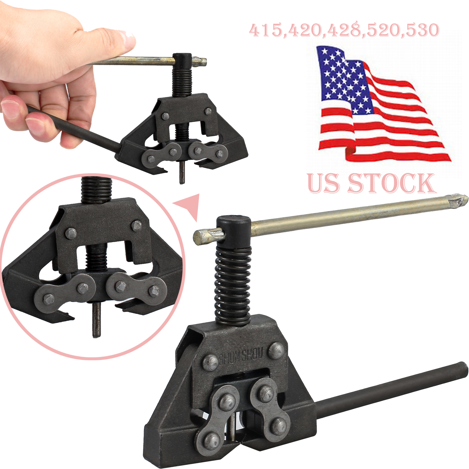 Motorcycle Bicycle ATV Chain Cutter Link Breaker Stainless Tool For 415-530