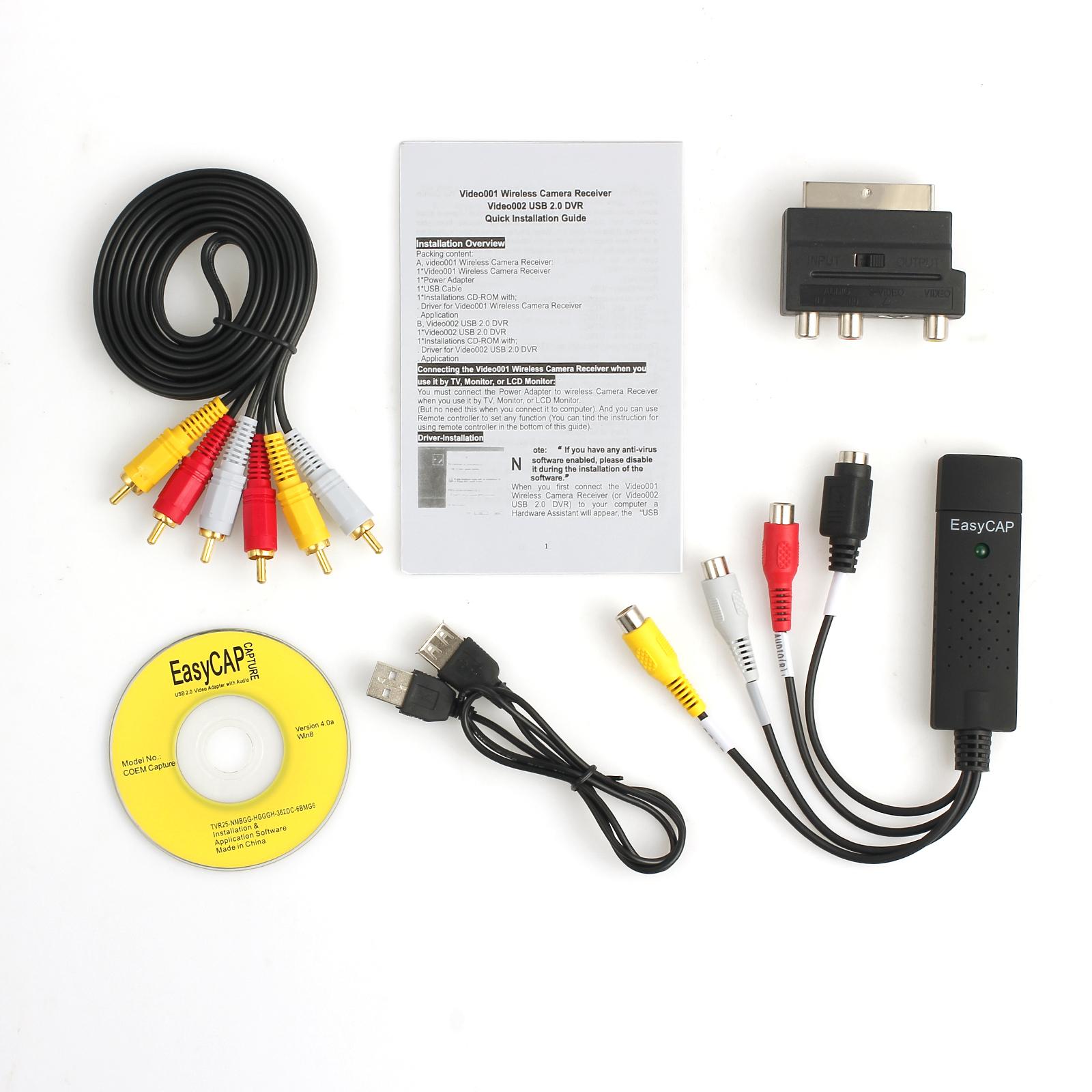 usb 2 0 vhs scart to dvd video capture audio video converter adapter rh ebay com