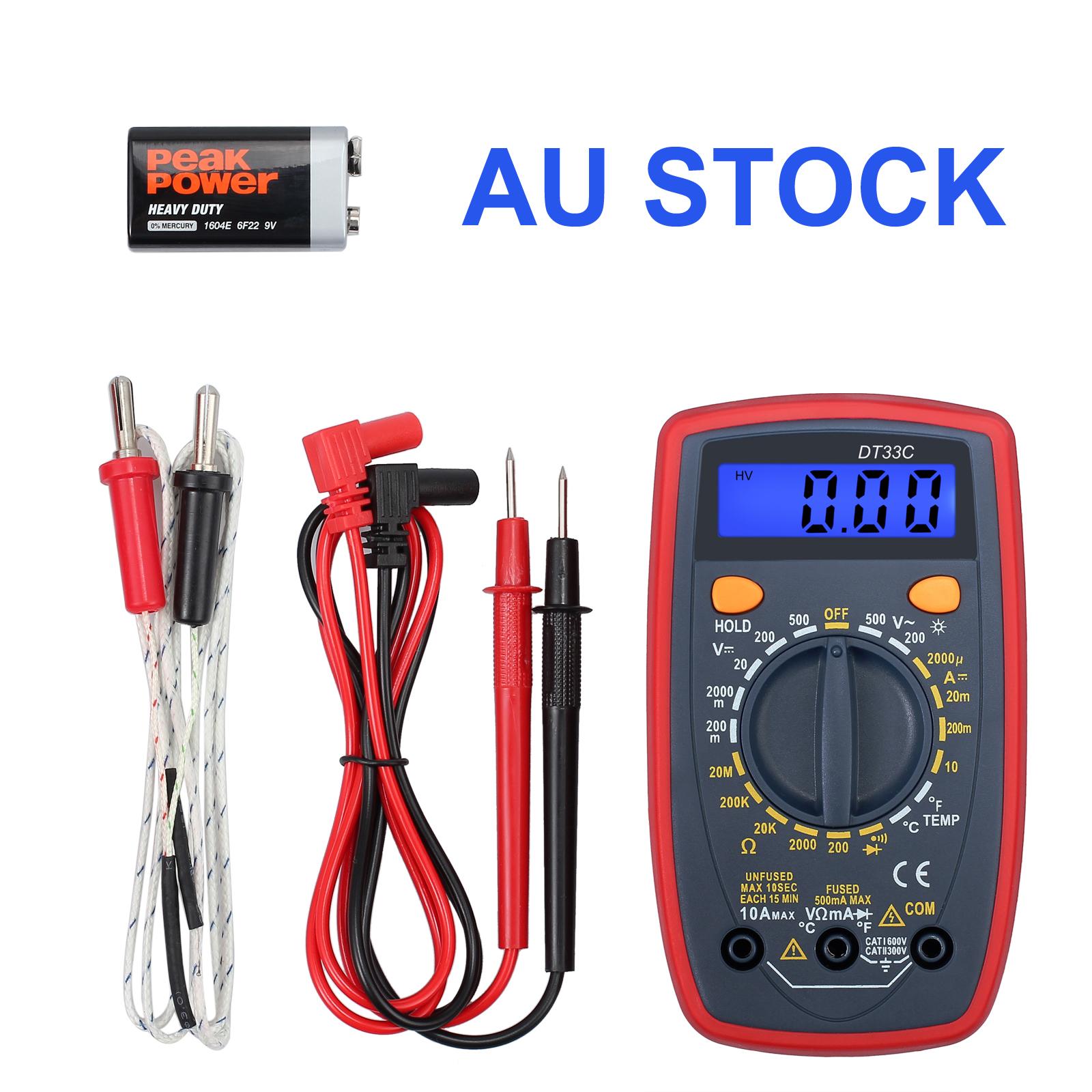 Lcd Digital Multimeter Ac Dc Voltmeter Current Ohmmeter Temperature Circuit Tester Multitester Multi