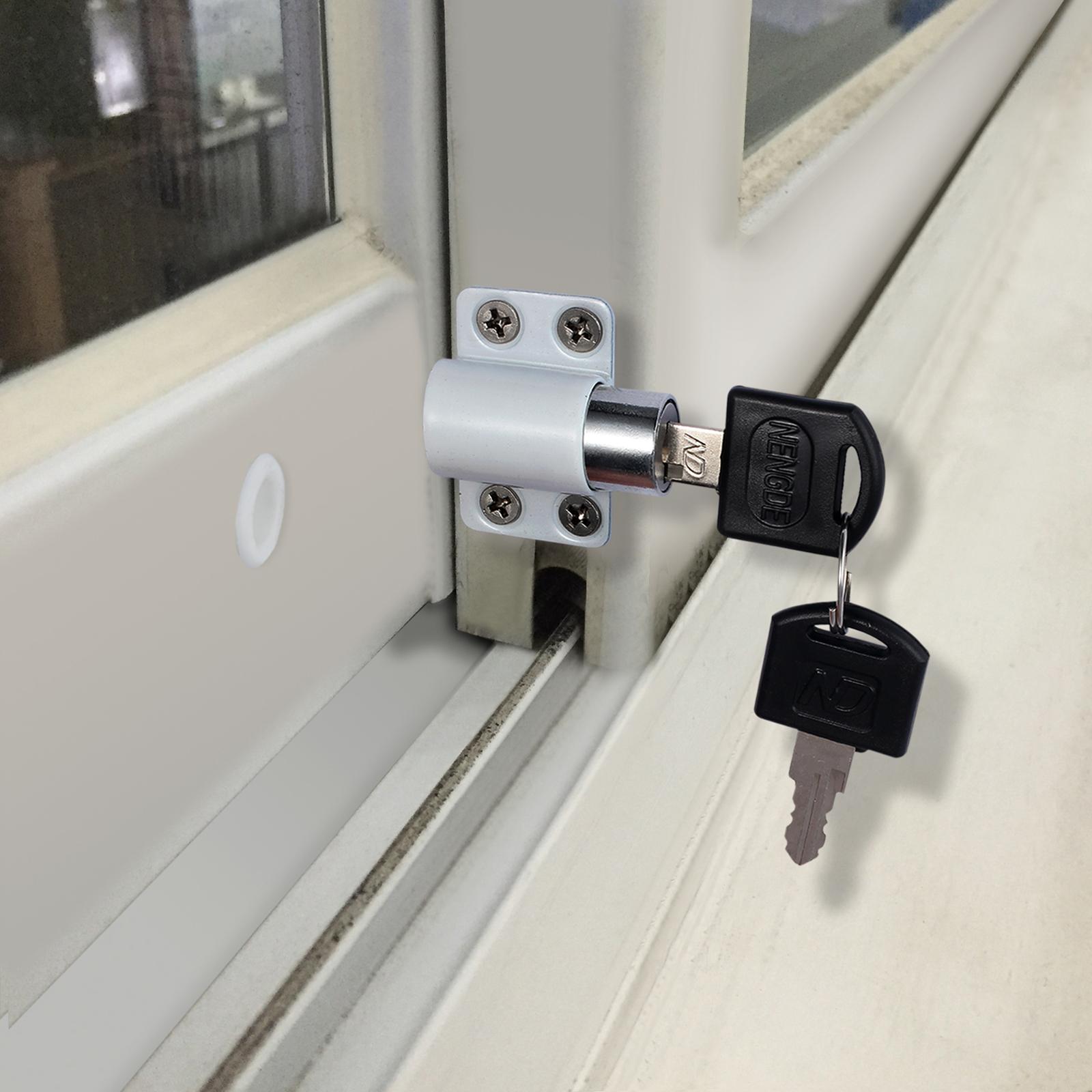 4x Door Window Bolt Catch Push Guard Lock Sliding Patio