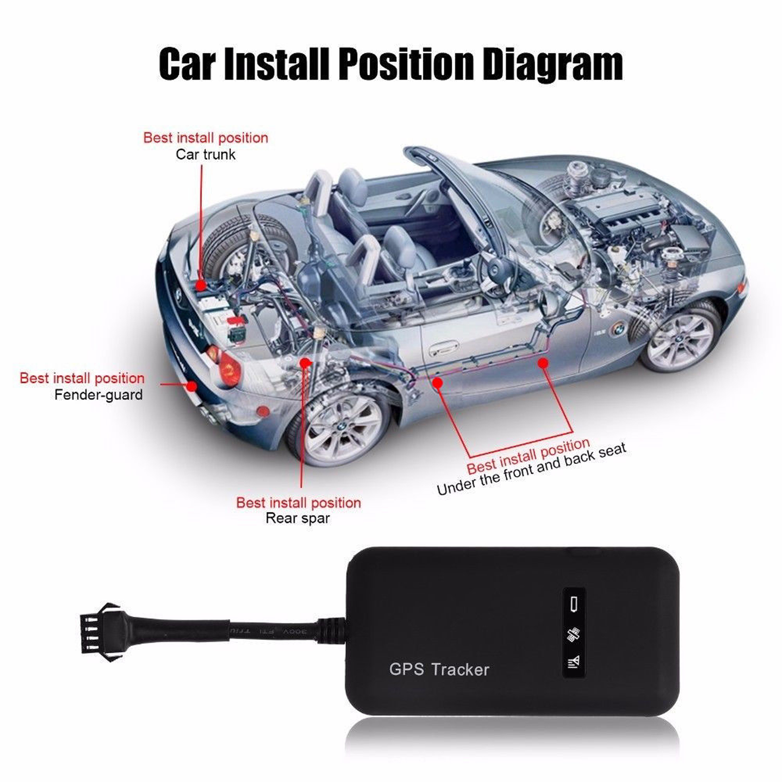 Car Tracker Device >> Mini Gps Gsm Car Realtime Tracker Locator Vehicle Van Personal