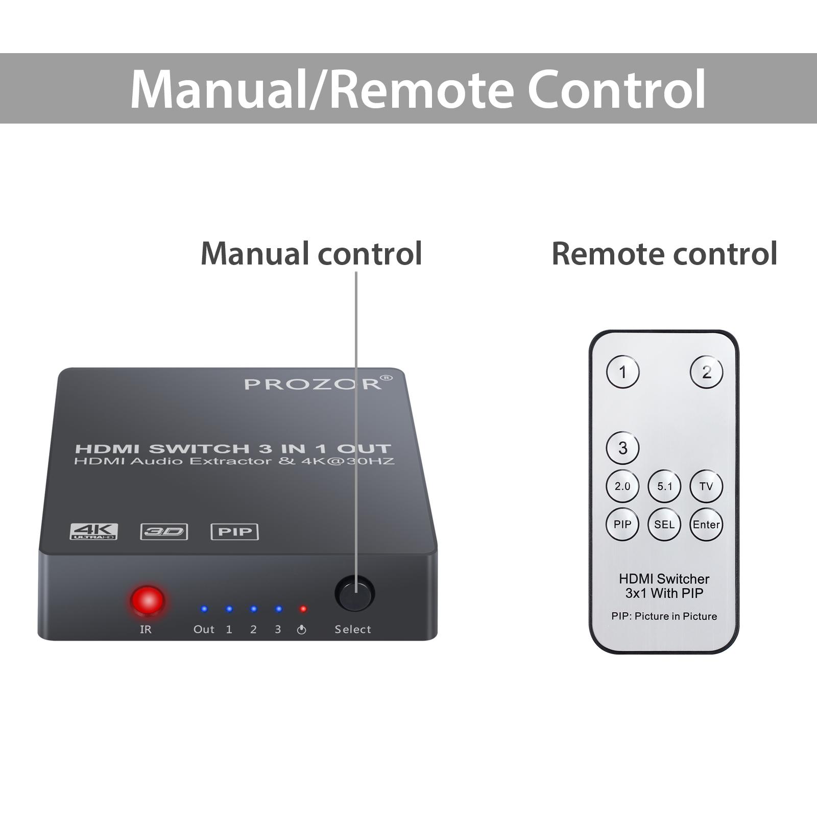 Audio Extractor 4k Hdmi Optical Toslink Spdif 35mm Stereo Pip Ir S Pdif Receiver Item Description