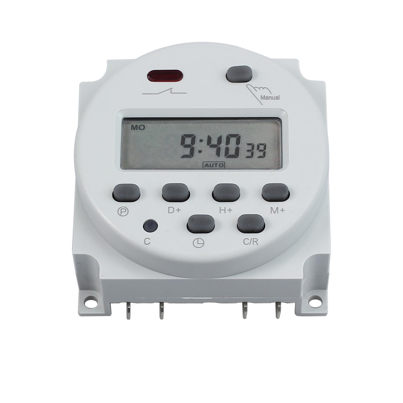 neu lcd digitale zeitschaltuhr programmierbar timer schalter zeit dc ac 12v 16a ebay
