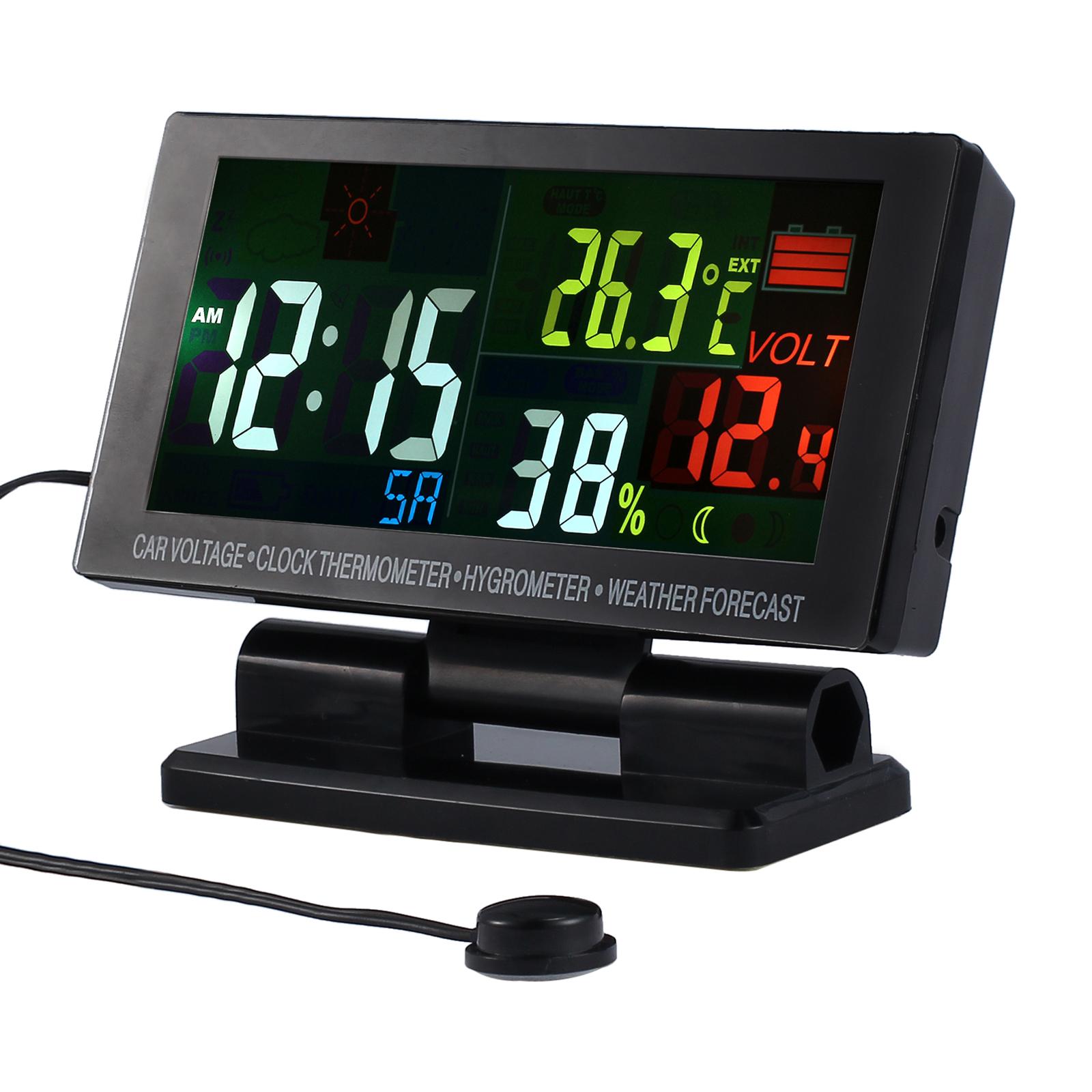 b5d1c6ccaba5 Color Digital LCD reloj tiempo temperatura termómetro higrómetro alarma