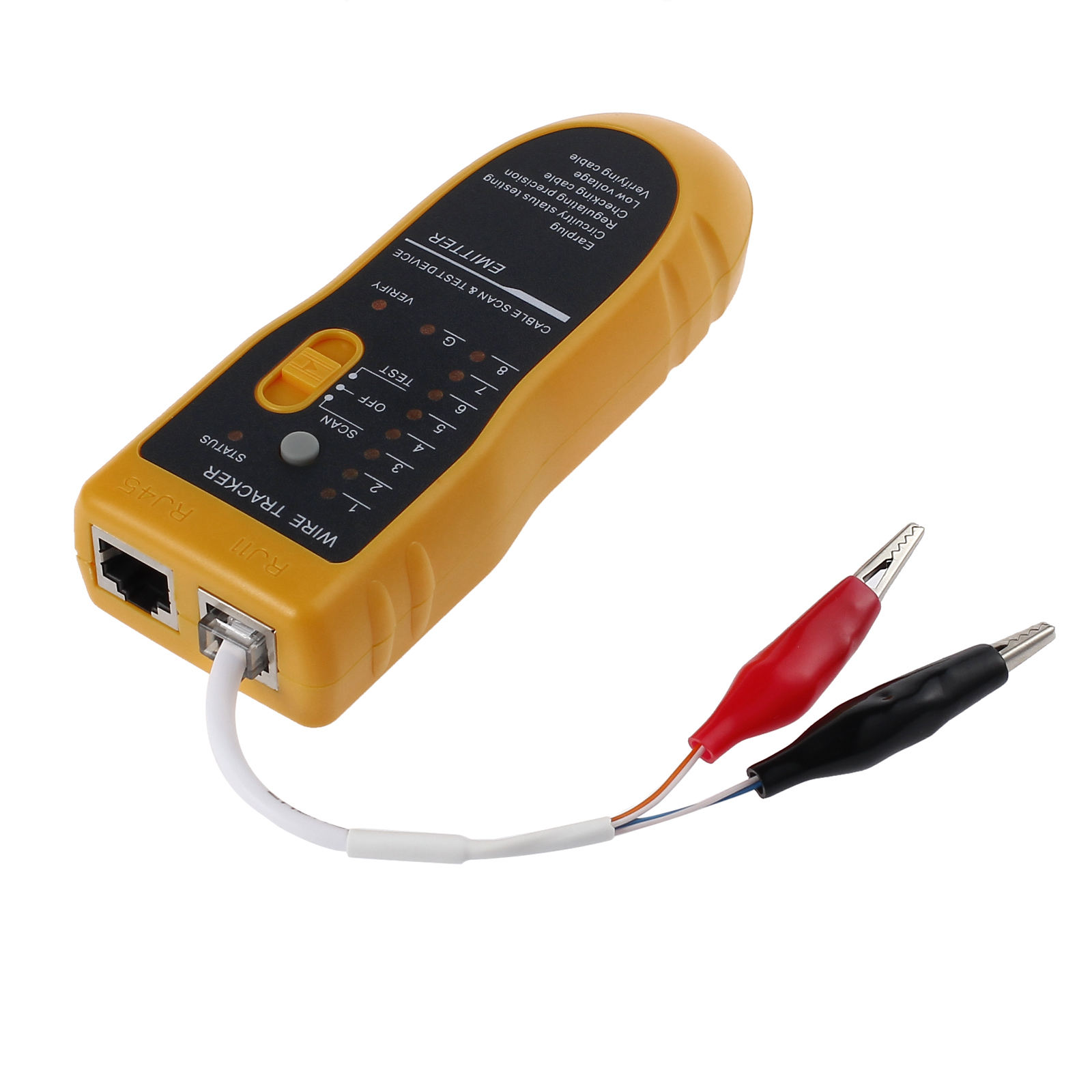 Rj45 Rj11 Line Finder Cable Wire Tone Generator Probe