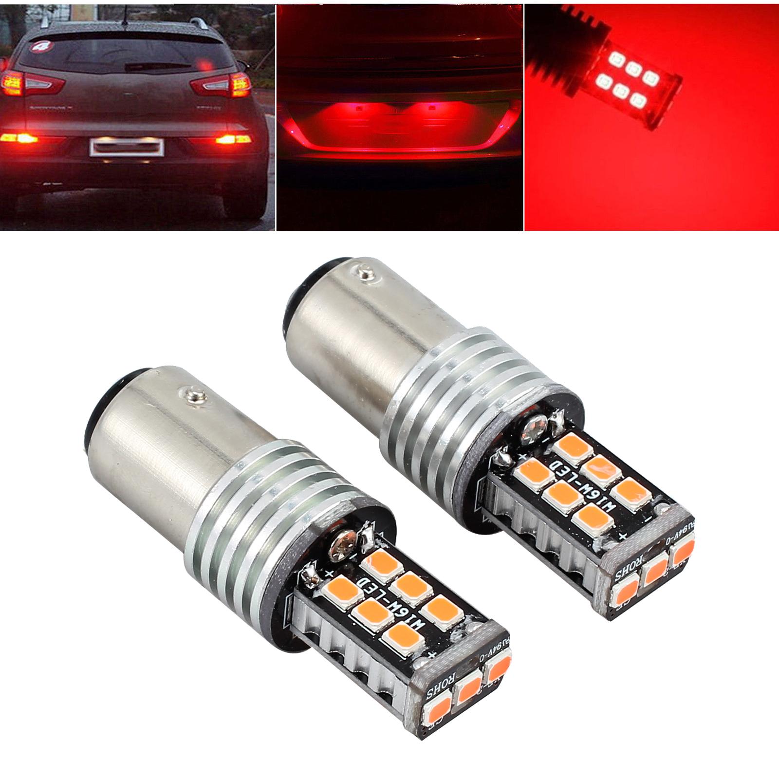 6pcs 50-SMD LED 1156 BA15S 382 P21W Brake Stop Tail Light Bulb Globe 12v CA