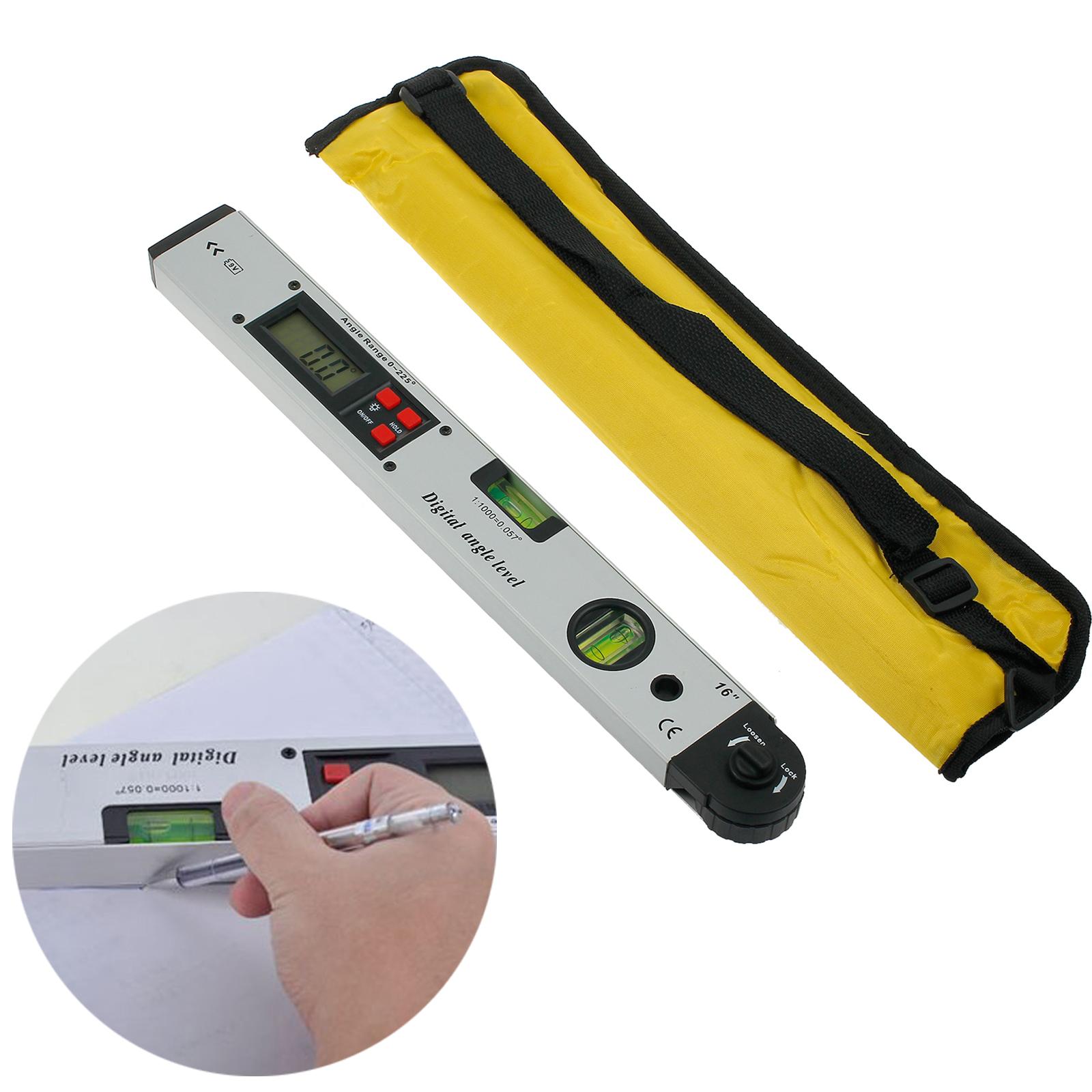 LCD Digital Protractor Inclinometer Spirit Level Angle Meter Finder Gauge 0~225°