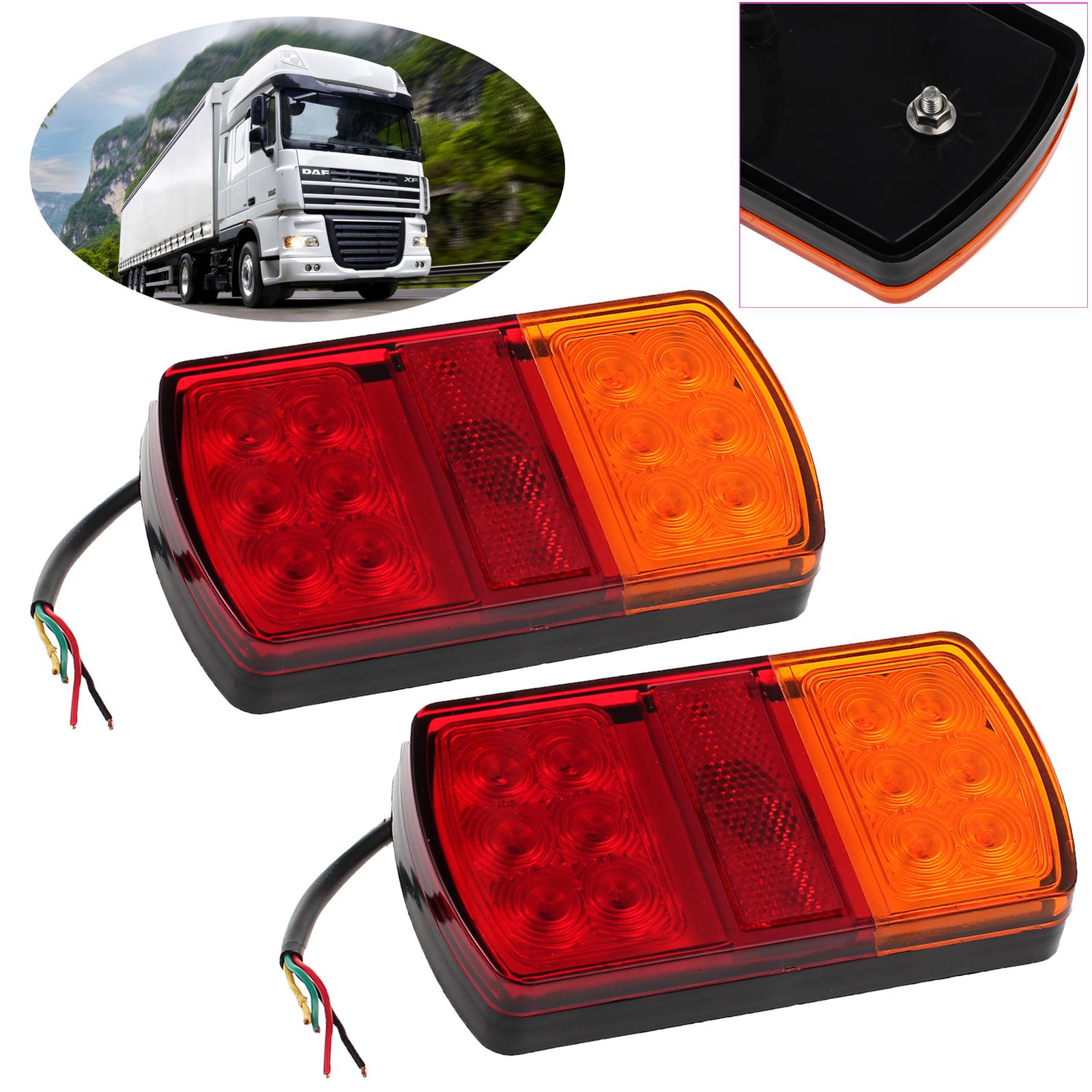 2x 12led Car Stop Brake Tail Lights Waterproof Truck Boat