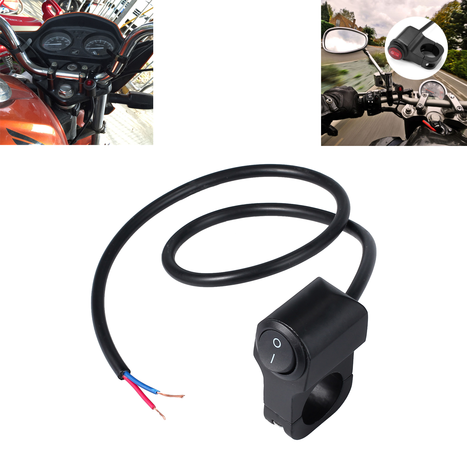 Motorcycle Light Switch,12V 16A Motorcycle ATV Waterproof Handlebar Headlight Switch Fog Spot light LED On Off Switch
