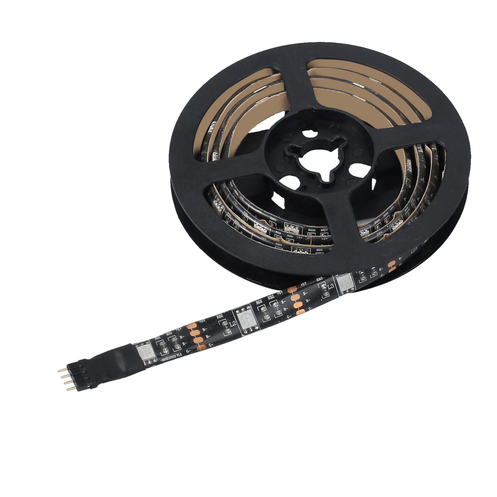 led usb backlight tv hintergrund beleuchtung licht band stripes streifen 30x rgb ebay. Black Bedroom Furniture Sets. Home Design Ideas