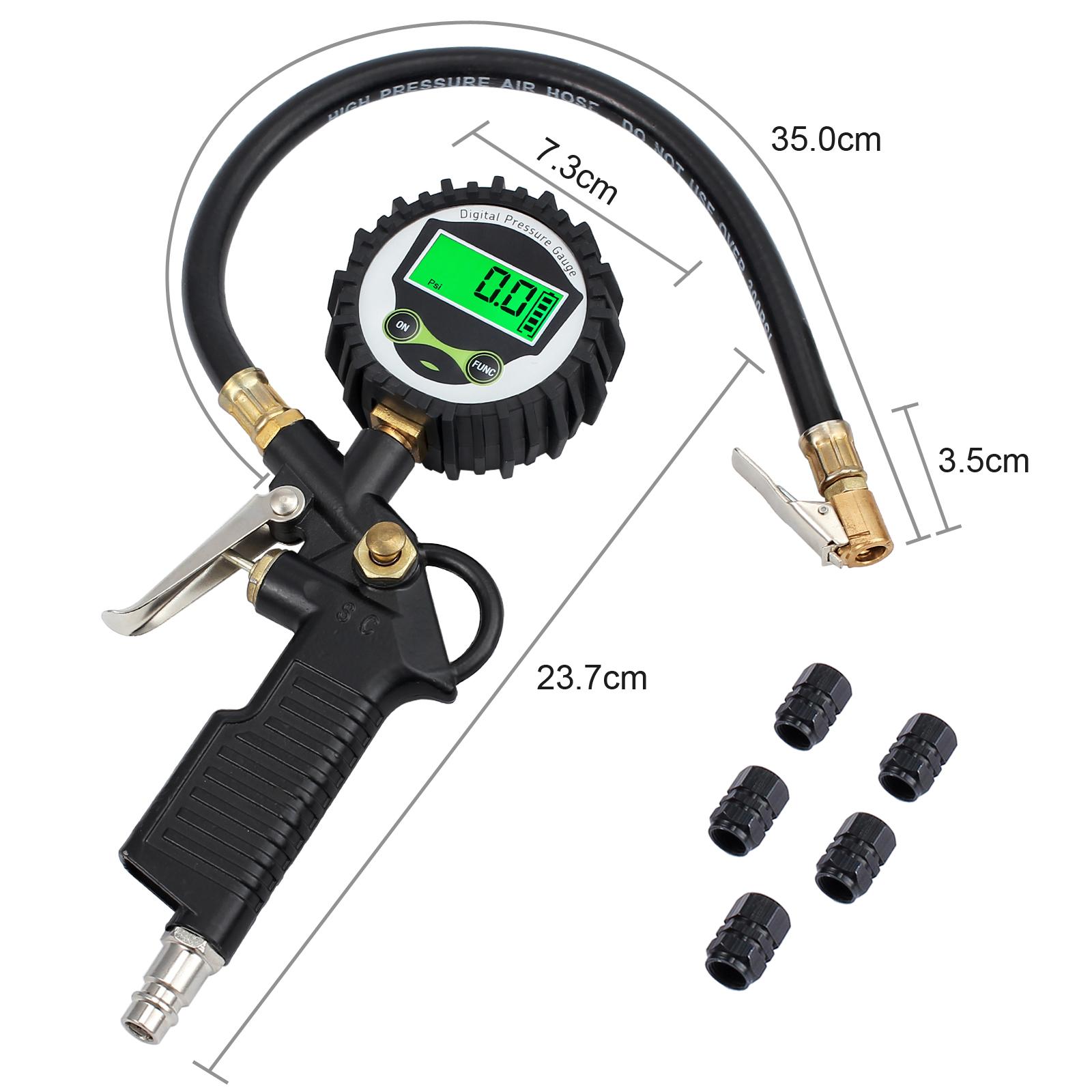 Neu Digital Für Auto Fahrrad Motor Reifen Luftdruckprüfer Druckmesser Manometer