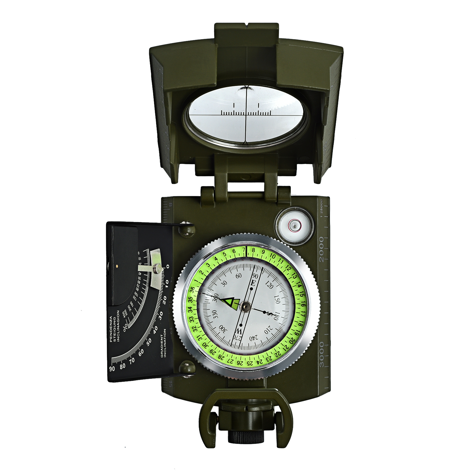 New Professional Military Army Metal Sighting Compass clinometer Camping  J7D2
