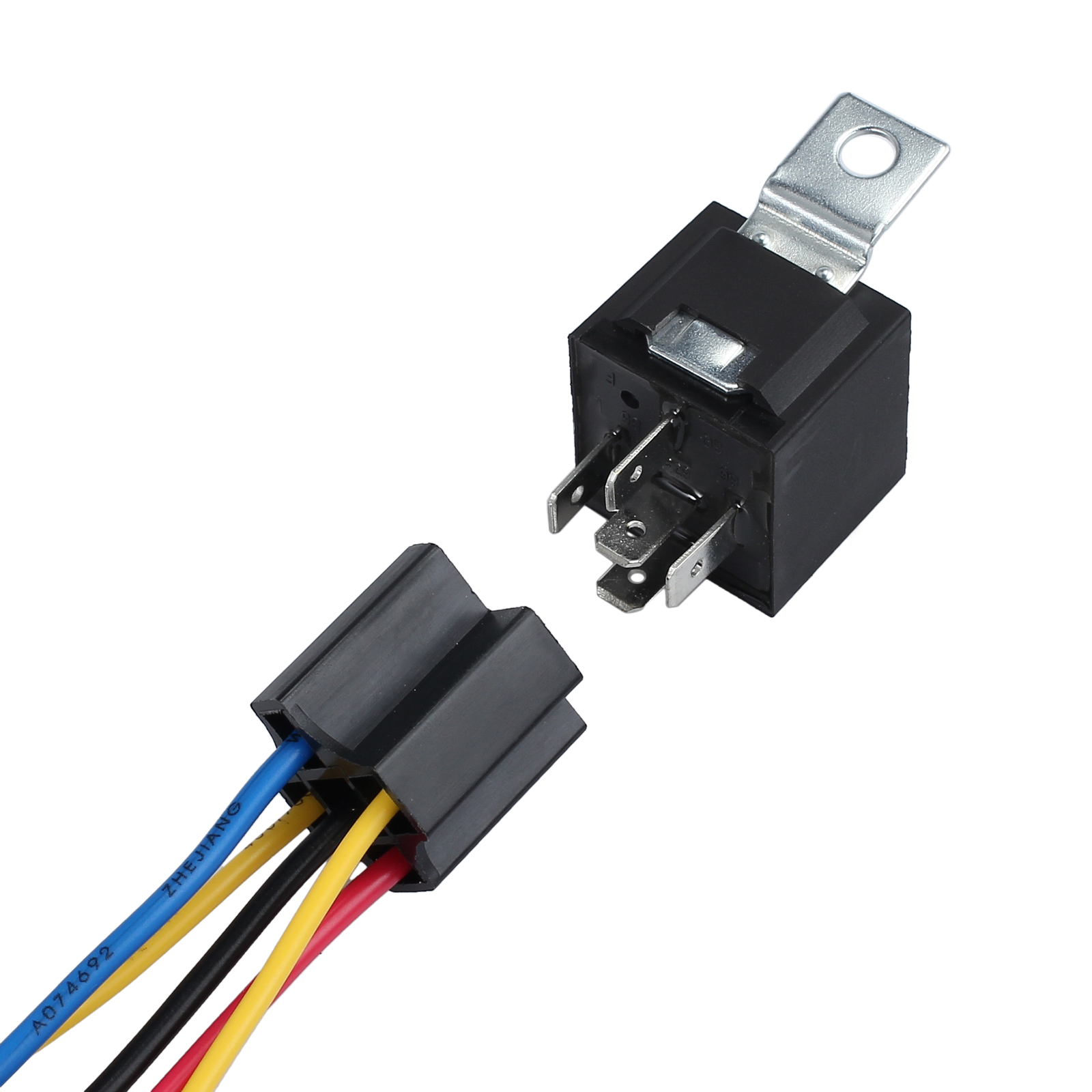 5pcs 5 Pin Car Spdt Automotive Relay 5 Wires W  Harness