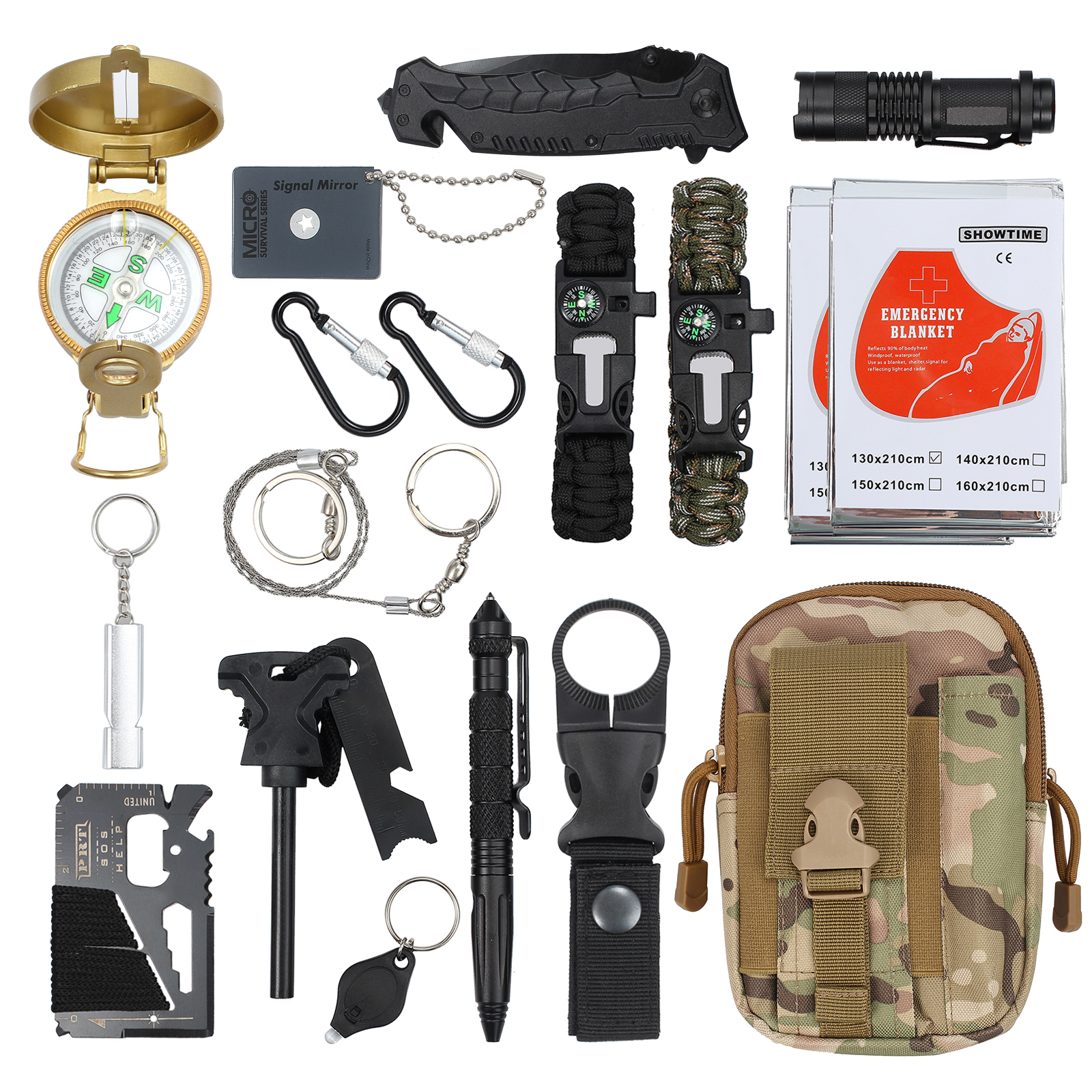 3-in-1 Keychain High Bright Led Light Flashlight Compass Whistle Mini Durable Aluminum Camping Survival Hiking Practical Tool 21 Making Things Convenient For The People Novelty & Special Use