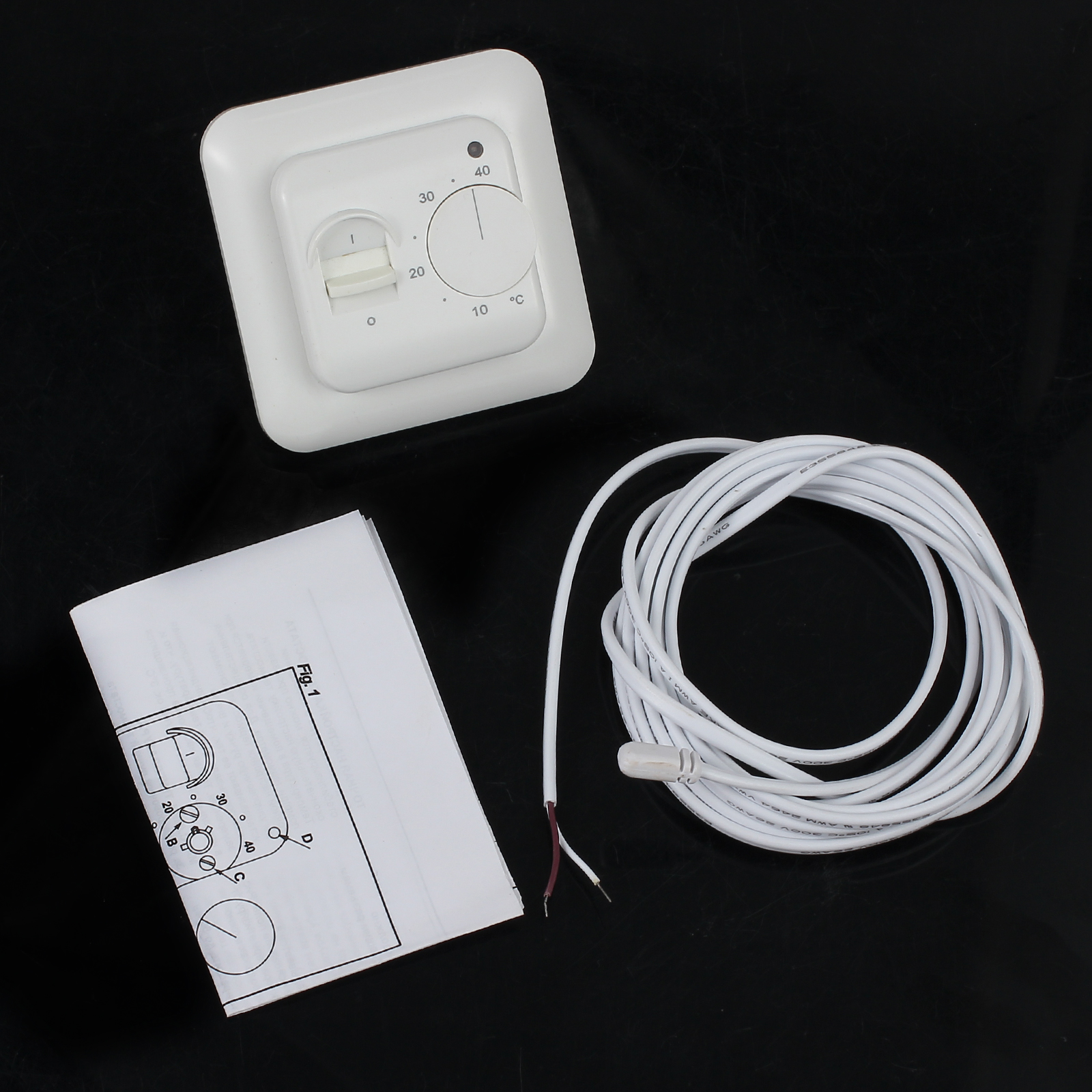 Digital Underfloor Electric Heating Manual Thermostat Device Floor Installation Guide By Discount 16a 5w Sensor