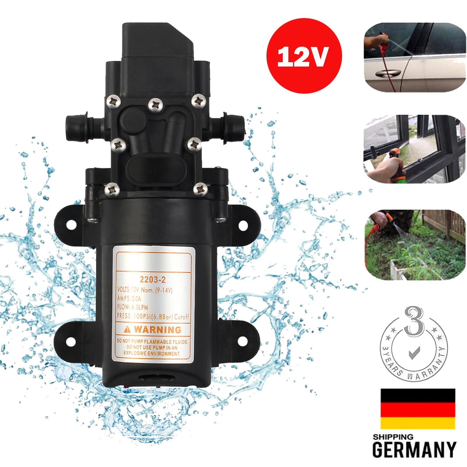 Druckwasserpumpe Hochdruck Wasserpumpe Membranpumpe Pumpe fr Auto Boot Garten DE