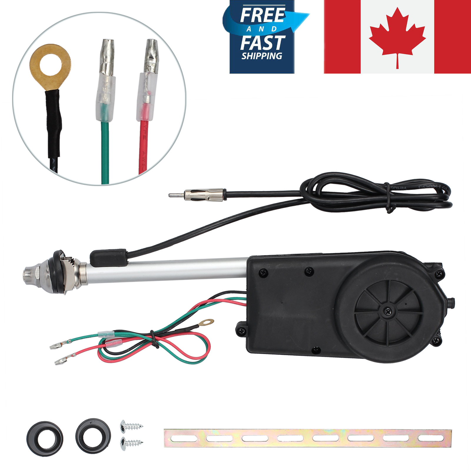 Radio Shack Electric Motor Kit: Car Antenna Electric Power Automatic Aerial Auto AM FM