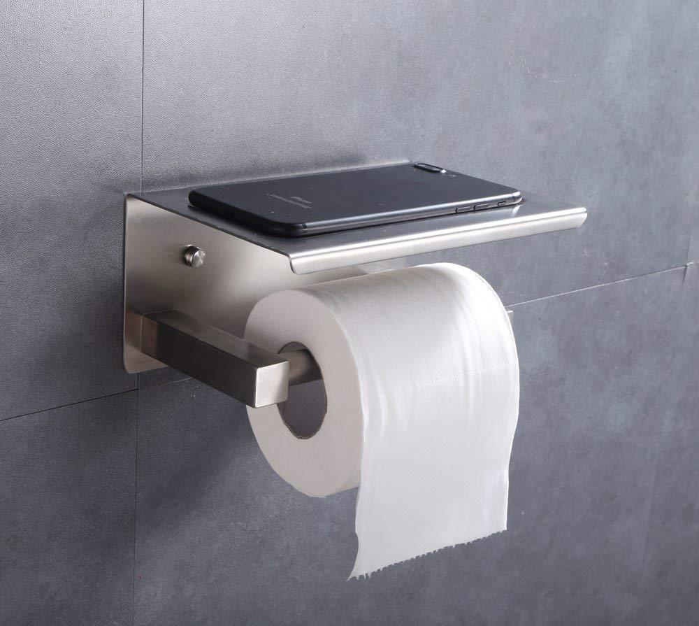 304 edelstahl toilettenpapierhalter rollenhalter ohne bohren handtuchhalter de ebay. Black Bedroom Furniture Sets. Home Design Ideas