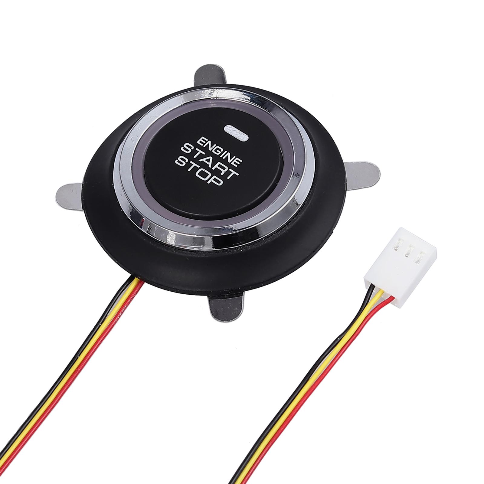 Car Keyless Entry Engine Start Alarm System Push Button Remote Starter Universal