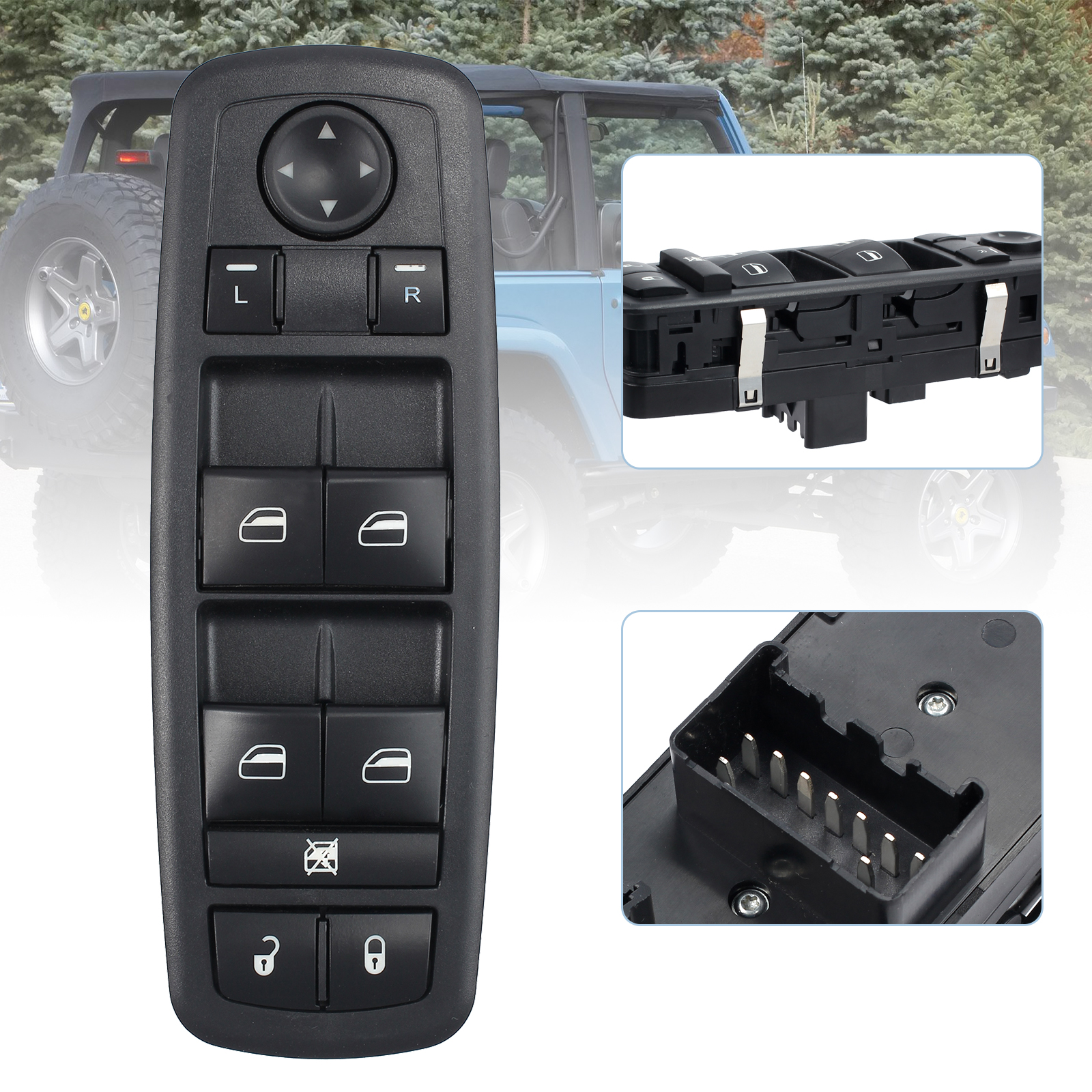 09-14 Replaces OE#: 68039999AC 68039999AB 68039999AA Chrysler Jeep Liberty 08-10 Journey For Dodge Grand Caravan Master Power Window Switch Driver Side