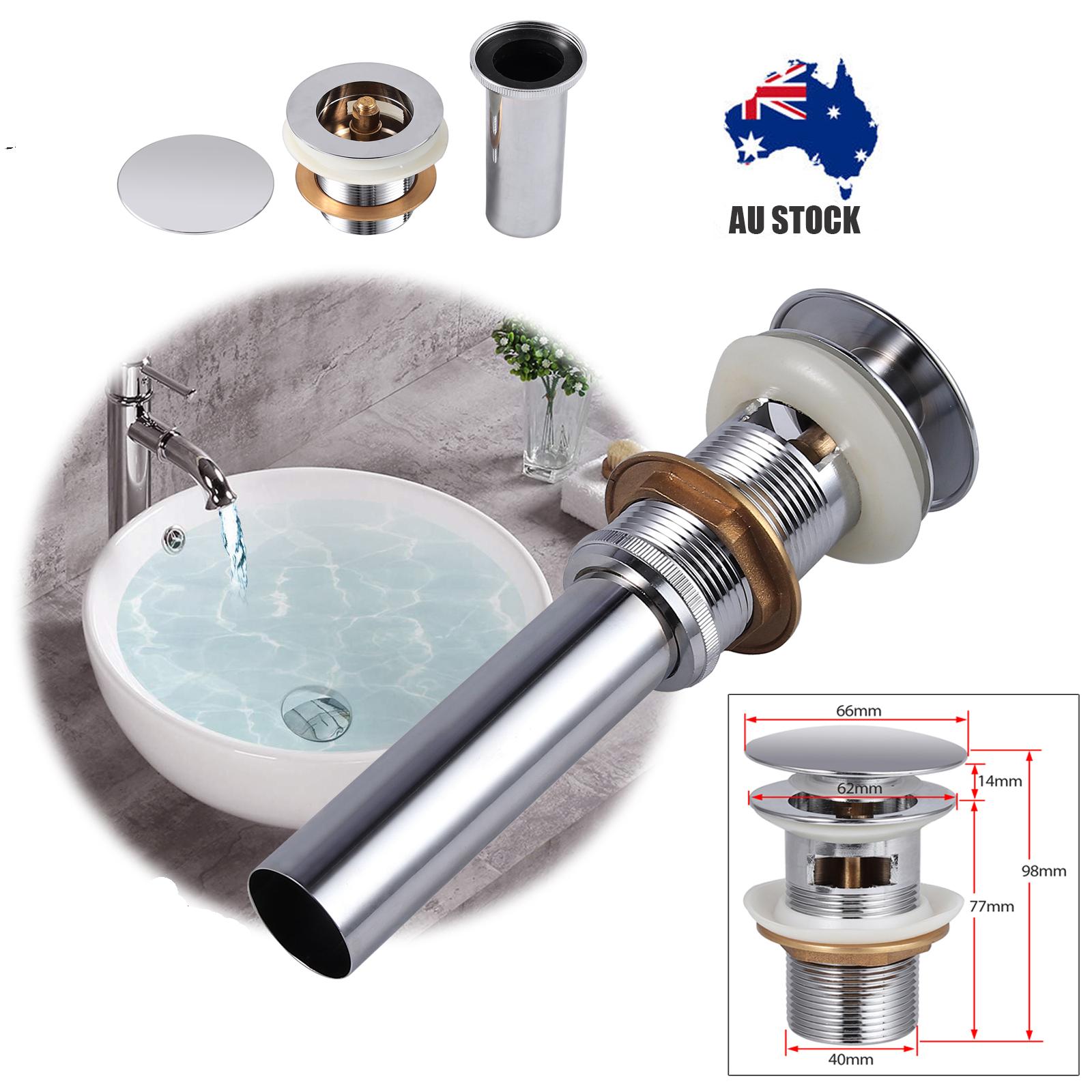 1 ¼ Bathroom Vanity Brass Basin Sink Overflow Pop Up Plug ...